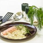 Lachs mit Dill-Risotto