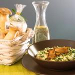 Cremiges Pilzrisotto mit Kräuterseitlingen, Champignons und Steinpilzen