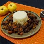 Lamm Tajine mit Quitte und Couscous