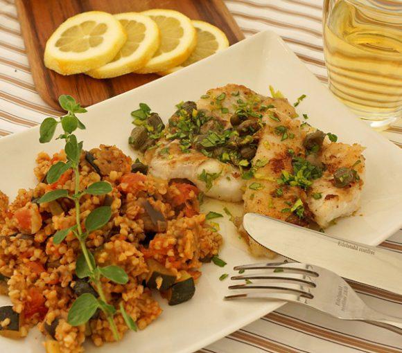 mit Ratatouille-Couscous