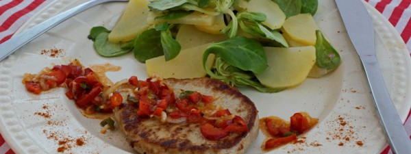 Kotelett mit Kartoffelsalat
