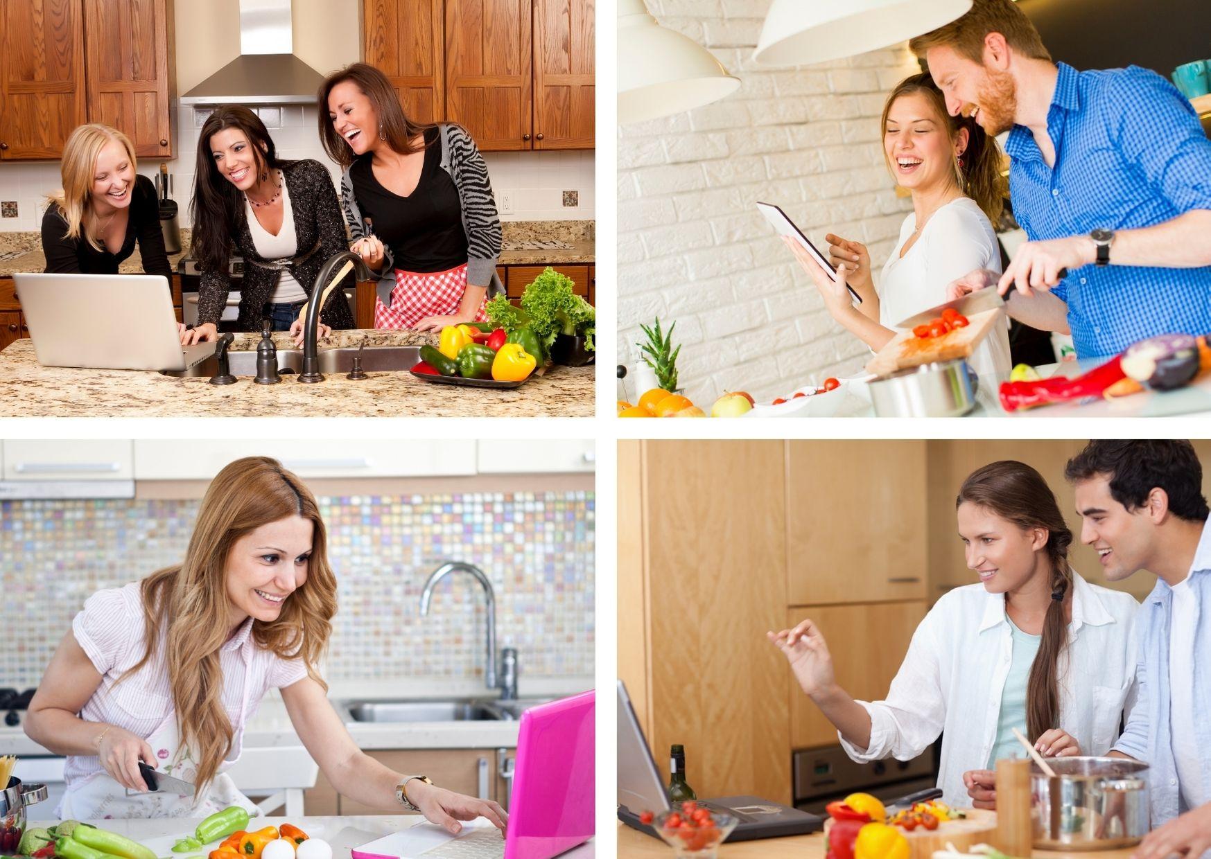 Remote kochen, virtuelles Teamevent